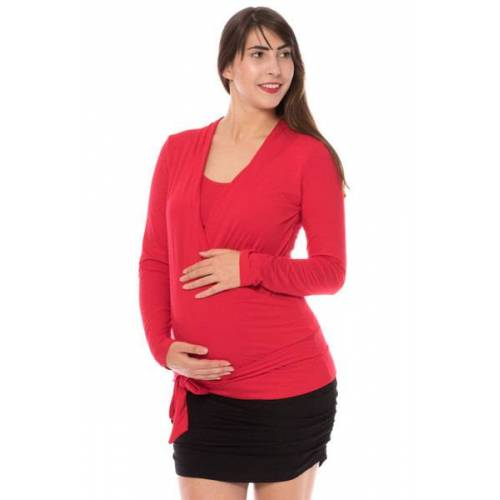 Milchshake Grazia Langarm Shirt Aus Bambusfaser rot L