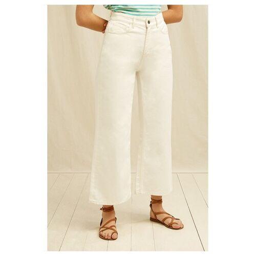 People Tree Jeans - Ariel Wide Leg Jeans weiß (cream) 14 (l)