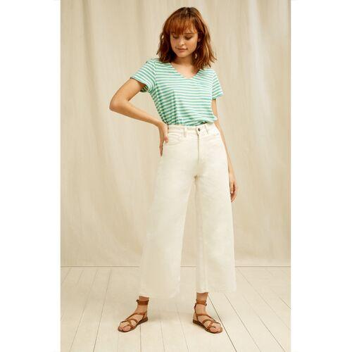 People Tree Jeans - Ariel Wide Leg Jeans weiß (cream) 8 (xs)