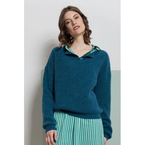 ME&MAY Pullover Elena Aus Alpakawolle blau s(36)