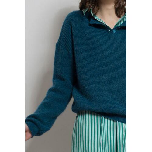 ME&MAY Pullover Elena Aus Alpakawolle blau m(38)