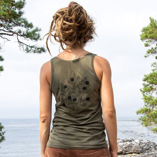 Cmig Damen Tank-top Blaubeere In Khaki khaki M