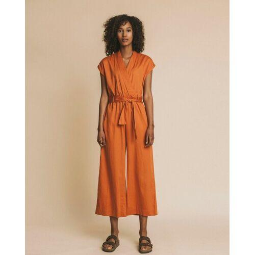 thinking mu Jumpsuit Damen - Malawi orange (teracotta) S
