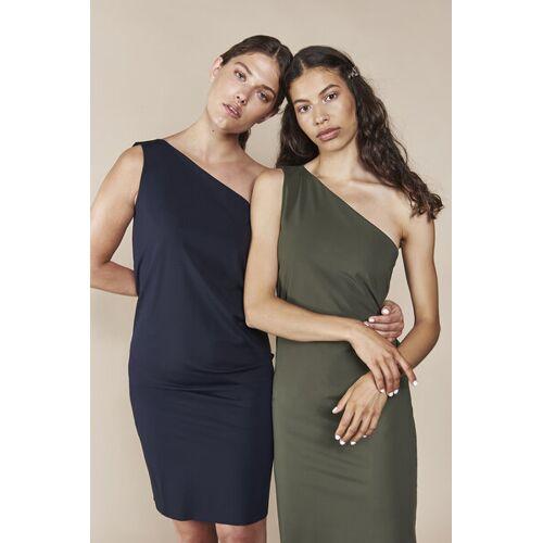 JAN N JUNE Asymmetrisches Kleid Tulum grün (oliv) XL