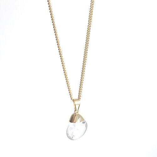 Crystal and Sage Bergkristall Halskette Von Crystal And Sage gold