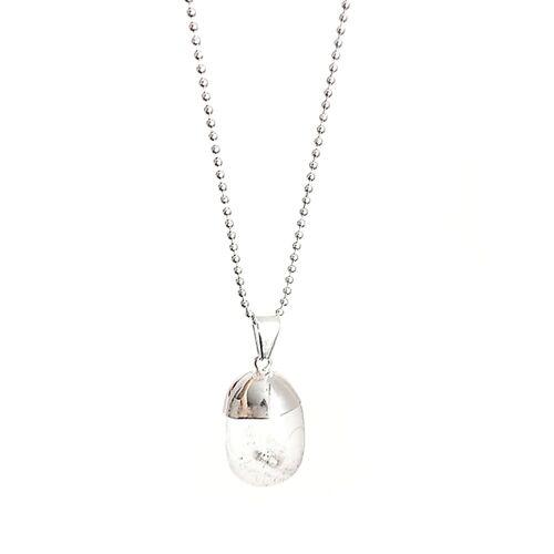 Crystal and Sage Bergkristall Halskette Von Crystal And Sage silber