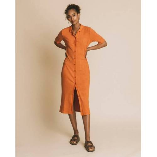 thinking mu Kleid Damen - Jur orange (teracotta) S