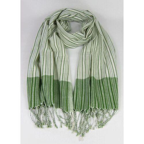 Green Size Handgewebtes Tuch Aus Indien