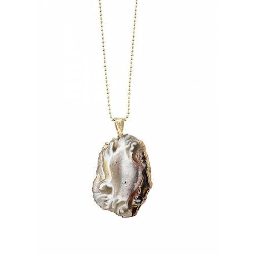 Crystal and Sage Cave - Halskette Mit Einer Vergoldeten Achathöhle gold