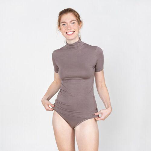erlich textil Ruth - Shirt Aus 90% Modal Und 10% Elasthan mokka 36