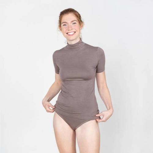 erlich textil Ruth - Shirt Aus 90% Modal Und 10% Elasthan mokka 40