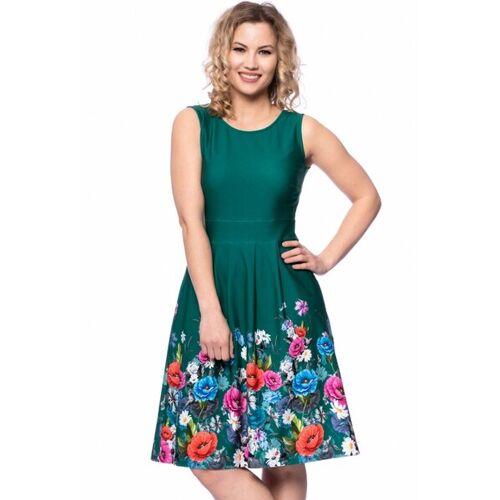 Ingoria Iris Kleid Mit Blumenbordüre grün S