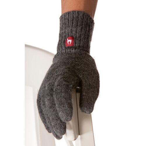 Apu Kuntur 100% Alpaka Finger-handschuhe Aus Peru grau XS