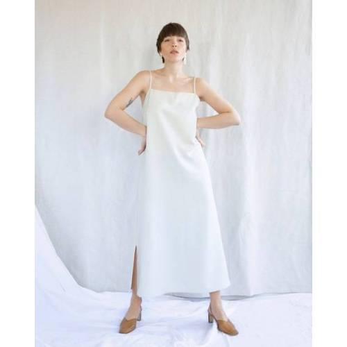 JAN N JUNE Slip Dress Capri Midi Eggshell eggshell L