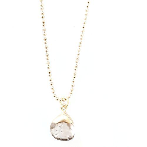 Crystal and Sage Rauchquarz Halskette Von Crystal And Sage gold