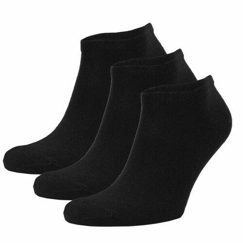 Opi & Max 3er Set Bambus Sneaker Socke Herren Damen Bambussocken schwarz 36-40