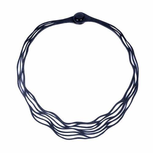 Paguro Upcycle Flow Vegane Halskette Aus Recyceltem Kautschuk