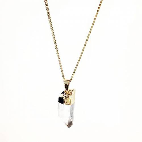 Crystal and Sage Elv – Bergkristall Halskette Von Crystal And Sage gold
