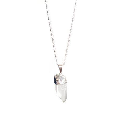 Crystal and Sage Elv – Bergkristall Halskette Von Crystal And Sage silber
