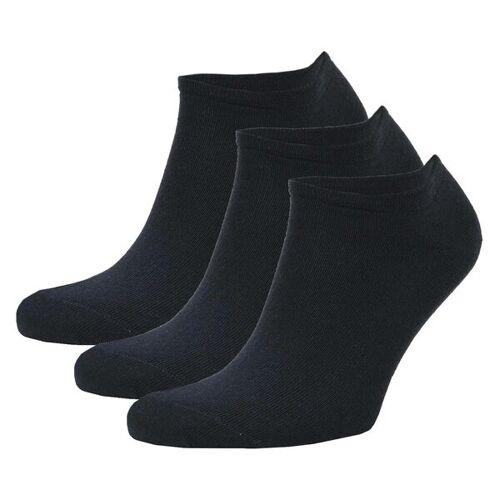 Opi & Max 3er Set Bambus Sneaker Socke Herren Damen Bambussocken blau 41-46
