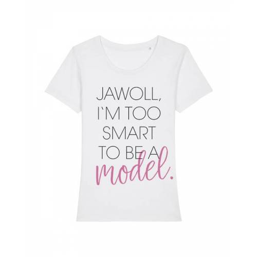 wat? Apparel Jawoll I'm Too Smart   T-shirt Damen white 2XL