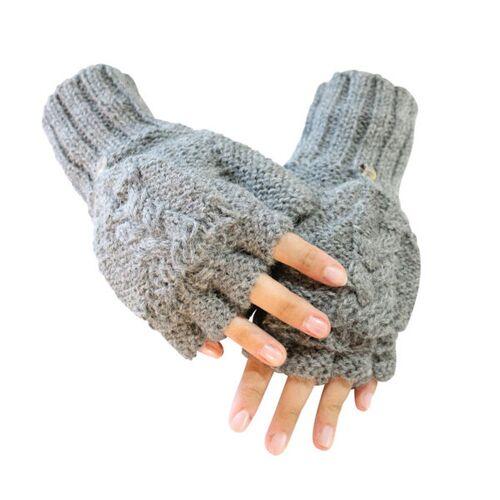 AlpacaOne Sydney Halbfingerhandschuhe Aus 100% Alpaka Fs One Size Größe S-xl grau
