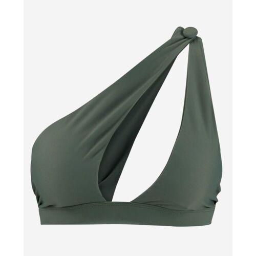 LANASIA Bikini Top Mit One-shoulder Träger khaki S