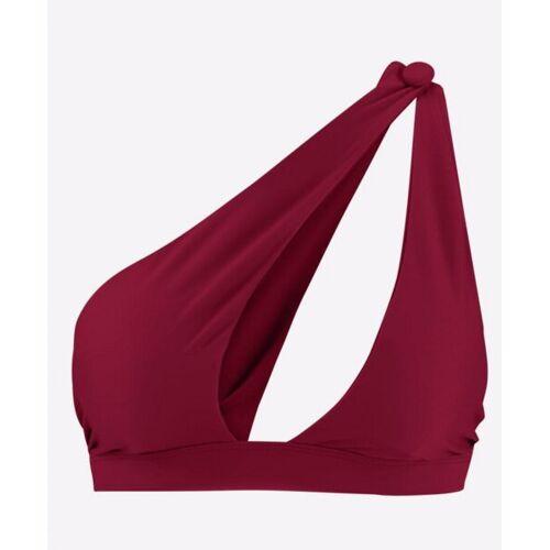 LANASIA Bikini Top Mit One-shoulder Träger bordeaux M