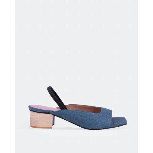 Momoc shoes Ananas Bleu - Ananasleder-midi-schuhe Blau blau 38
