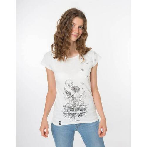 """Zerum Bio T-shirt """"Lea Löwenzahn White"""" white L"""
