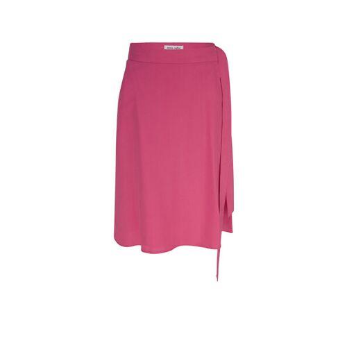 MARIA SEIFERT Tanja - Kurzer Wickelrock Aus Tencel pink 38/40 ( bw 74 cm/ lg 60 cm)