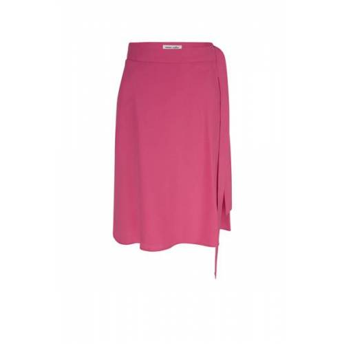 MARIA SEIFERT Tanja - Kurzer Wickelrock Aus Tencel pink 42/44 ( bw 80 cm/ lg 64 cm)