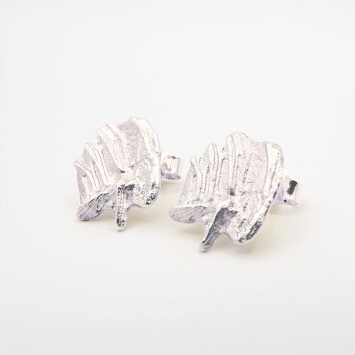 say time Scheveningen Ohrstecker Recyceltes Silber silber