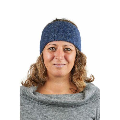 AlpacaOne Alpaka Stirnband Aus Baby Alpaka Aspen One Size Größe S-xl jeansblau