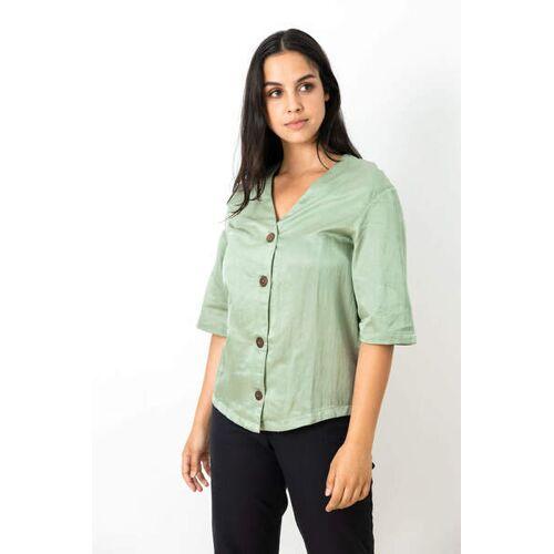 Jyoti - Fair Works Shirt Barunie Moosgrün moosgrün L