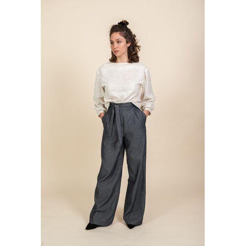 Jyoti - Fair Works Hose Hamina Jeansblau jeansblau M