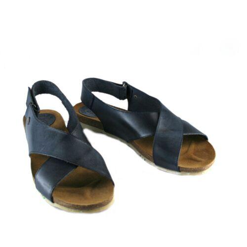 Jonnys Flache Sandale Mit Überkreuzten Riemen dunkelblau 41