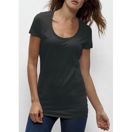 """University of Soul Damen T-shirt Aus Bio-baumwolle """"Faye"""" altmodisches schwarz L"""