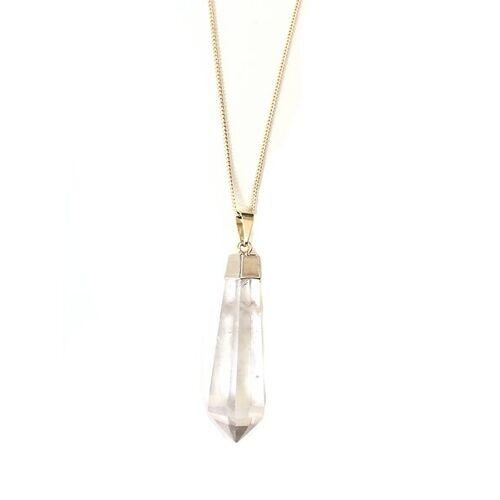Crystal and Sage Bergkristall Pendel Halskette Von Crystal And Sage sage