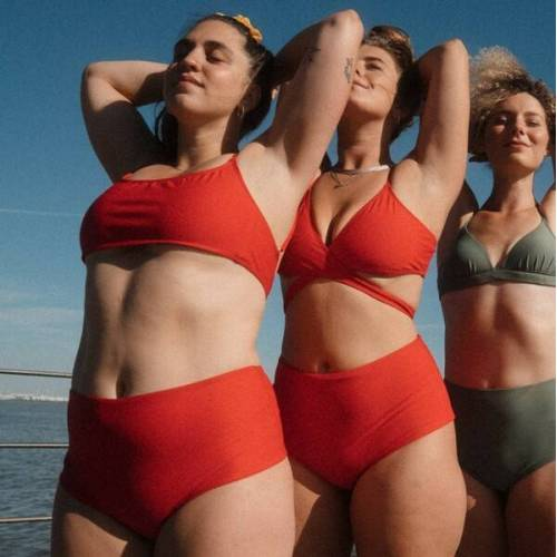 WONDA swim Bikini Bottom Berlin rot S
