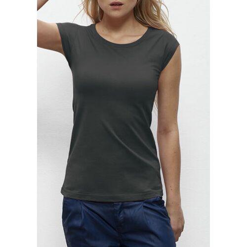 """University of Soul Damen T-shirt Aus Bio-baumwolle """"Keira"""" altmodisches schwarz M"""