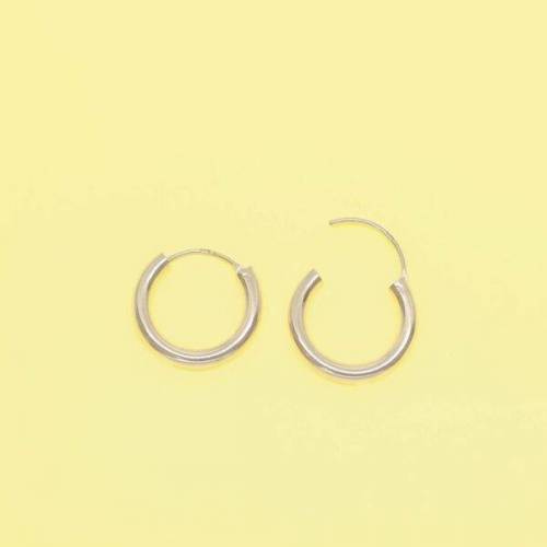 fejn jewelry Creole 'Bold Hoop S / M rotgold S