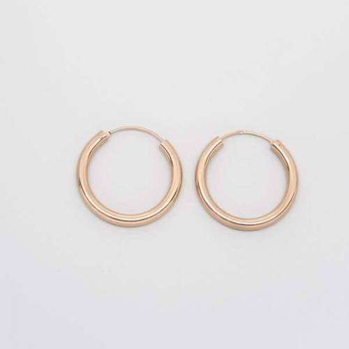 fejn jewelry Creole 'Bold Hoop S / M rotgold M