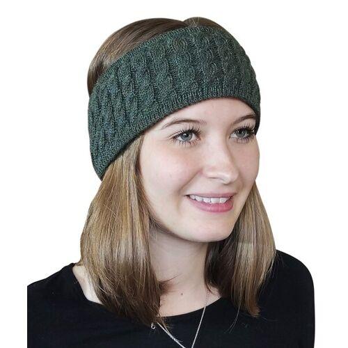 Albwolle Alpaka Stirnband grün