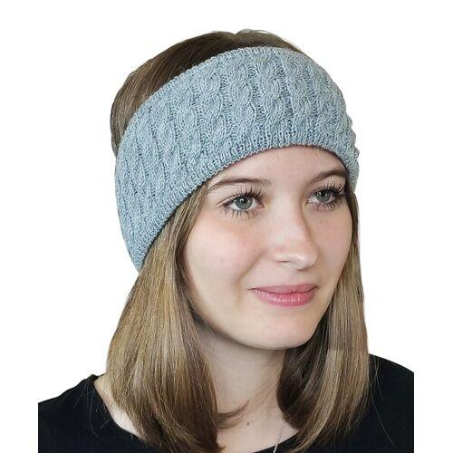 Albwolle Alpaka Stirnband grau