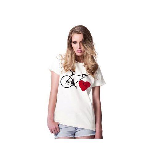 nicegreenstuff Bike Love (Girls Eco-shirt White) white M
