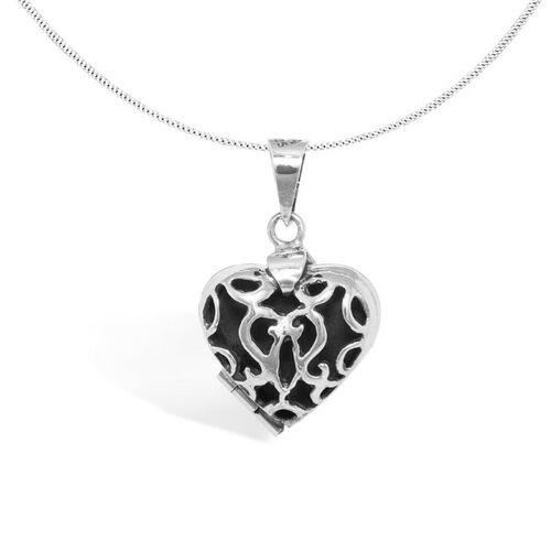 pakilia Kette Silber Herz Amulett Fein Handmade Fair-trade silber