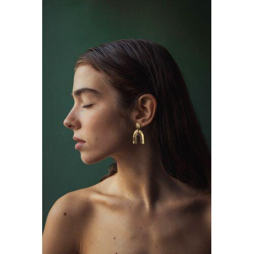 Jyoti - Fair Works Goldene Ohrringe Khushee Aus Messing Im Regenbogen Motiv regenbogen