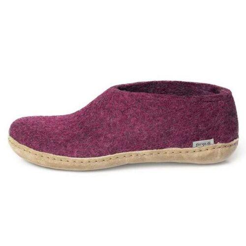 glerups Hausschuhe Damen - The Shoe Leather - Leder pink (cranberry) 36
