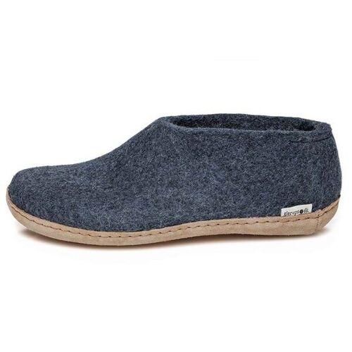 glerups Hausschuhe Damen - The Shoe Leather - Leder blau (denim) 41